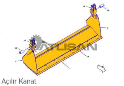 Запчасть для спецтехники 2529051 CLAM AS-MULTIPURPOSE BUCKET (Caterpillar)